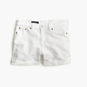 I crew white raw hem shirt 24
